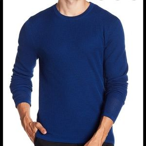 Vince Blue Double Layer Wool Pullover Size M